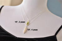 PEAS IN A POD necklace (green freshwater pearls)