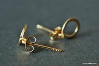 TINY TEENY CIRCLE post earrings
