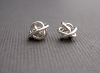 tornado ball stud earrings sterling silver
