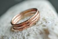 set of 3 stacking rings in 14k rose gold filled