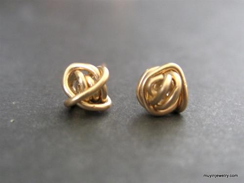 tornado ball stud earrings gold filled