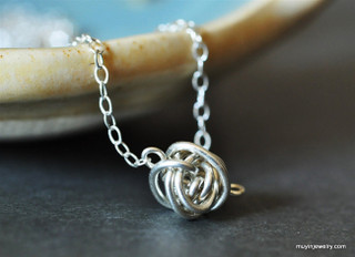 TINY TEENY TORNADO wire ball necklace
