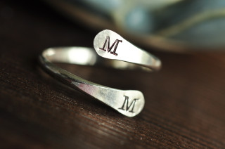 adjustable initial ring - couples ring