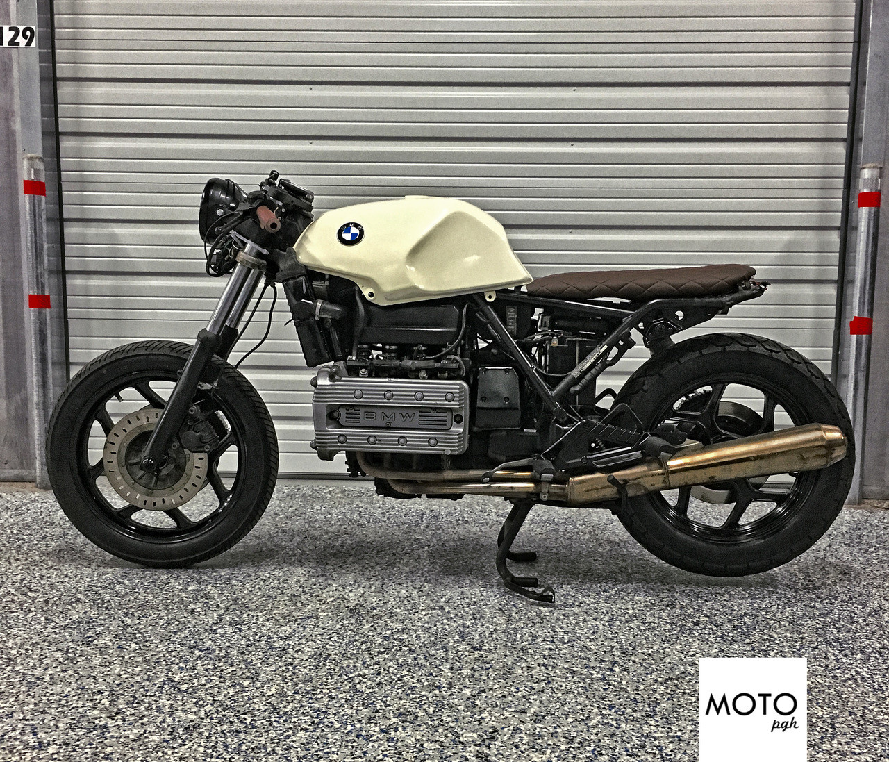 sold 973 bmw k100 the brick brat cafe racer moto pgh. Black Bedroom Furniture Sets. Home Design Ideas