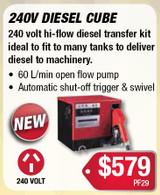 240 Volt Mechanical Diesel Meter Cube Style Pump