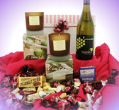 117 LCP2 Sweet Kiwi - contains 1 White Wine, Candles & Sweets