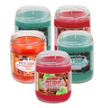 Limited Time Offer Now Available in a Very Popular Holiday Fragrances Bundle You will receive 5 Assorted Holiday fragrance candles:   * Pumpkin Spice * Sugared Cranberry * Cinnamon Apple * Fresh Evergreen