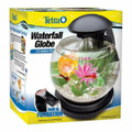 TETRA Waterfall LED Globe Aquarium Kit Desktop - Just Add Water & Fish -TM29008