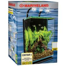 MARINELAND 5gal Contour Aquarium Desktop Kit -Just Add ...