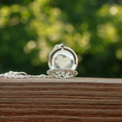 filigree breast milk locket