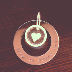 circle of life stamped breast milk pendant.