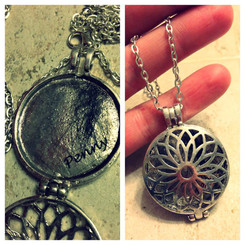 daisy filigree memorial locket.