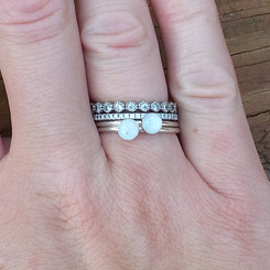 sterling dot breast milk ring