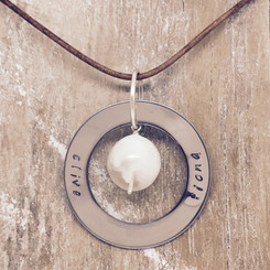 circle of life pearl pendant