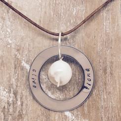 circle of life pearl pendant