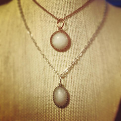 vintage inspired breast milk pendant.