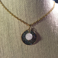 druzy disc and breast milk pearl.
