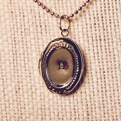 medium initial locket