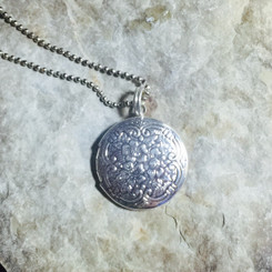 floral breast milk locket