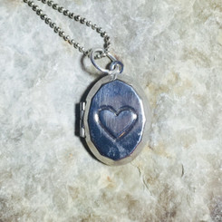 heart oval locket.