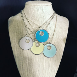 double circle breast milk pendant.