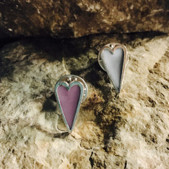 mini heart breast milk lapel pin.