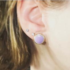 open frame breast milk earrings.