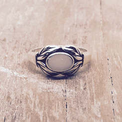 open leaves ring