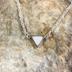 triangle link breast milk necklace
