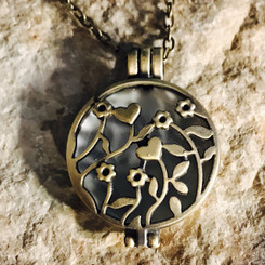 flowers breast milk locket