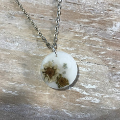 flowers breast milk pendant