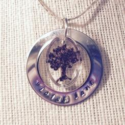 circle of life memorial pendant