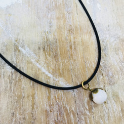 rubber snap necklace