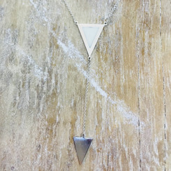 double triangle drop necklace