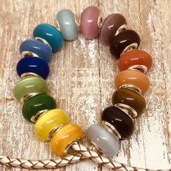 opaque glass european bead