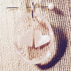 double hearts pendant