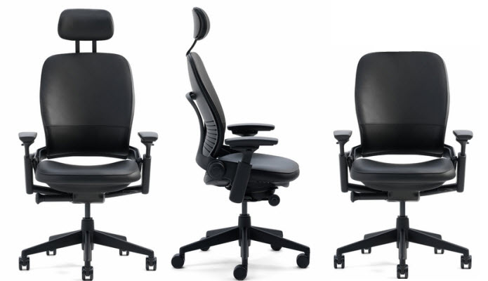 Superior Steelcase Leap Chair With Headrest Image
