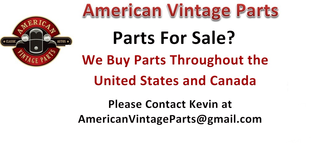 CLASSIC VINTAGE CAR PARTS NEW OLD STOCK ALL MAKES AMERICAN VINTAGE PARTS