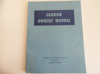 New NOS 1935 1936 1937 Graham Owner's Manual 35 36 37