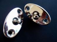 Vintage NOS Nickel Door Handle Lock Toggle Light Switch Set Escutcheon Plate