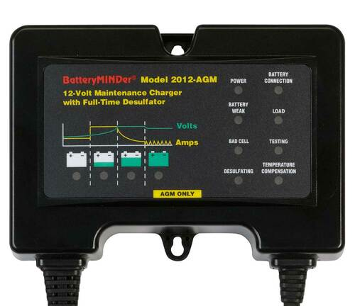 BatteryMINDer 2012-AGM: 12 Volt 2 Amp (12V 2A) Charger/Maintainer/Desulfator For Optima And Odyssey And Other Specialty 12 Volt Sealed AGM Lead-Acid Batteries