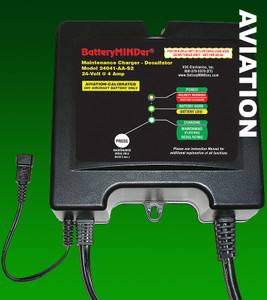 BatteryMINDer 24041-AAS2: 24Volt 4A Aircraft Battery Charger/Maintainer/Desulfator