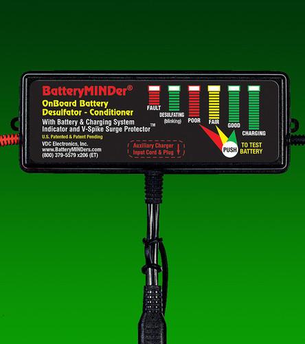 BatteryMINDer® Model OBD-24: 24V On-Board Desulfator