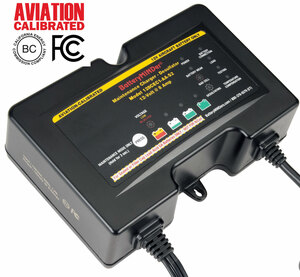 BatteryMINDer Model 128CEC1-AA-S2 12V 2/4/8 AMP GILL® Aviation Battery Charger/Maintainer/Desulfator