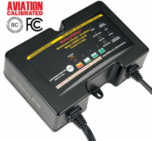 BatteryMINDer® Model 128CEC1-AA-S3: 12V 2/4/8 AMP HAWKER-ODESSEY® & GILL® LT 7000 SERIES Aviation Battery Charger-Maintainer-Desulfator