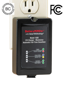 BatteryMINDer Model 1500: 12 Volt 1.5 Amp Maintenance Charger / Desulfator