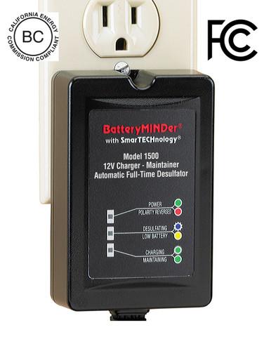 BatteryMINDer Model 1500: 12 Volt 1.5 Amp Maintenance Charger / Desulfator