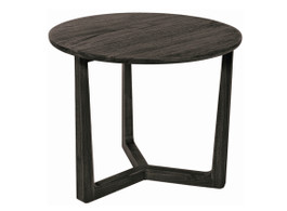 Bahama Round Side Table In Grey Dust Teak