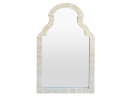 Moroccan Arch Bone Inlay Mirror