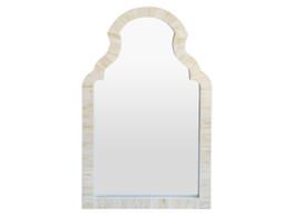 Moroccan Arch Bone Inlay Mirror